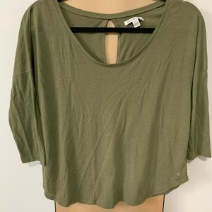 American Eagle Olive Soft Sweater Top